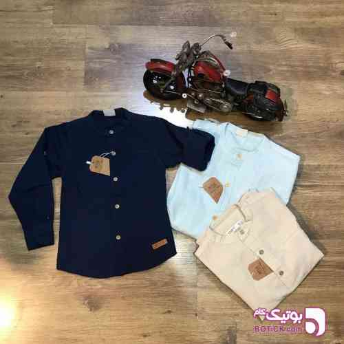 پیراهن یقه فرنچ - لباس کودک پسرانه