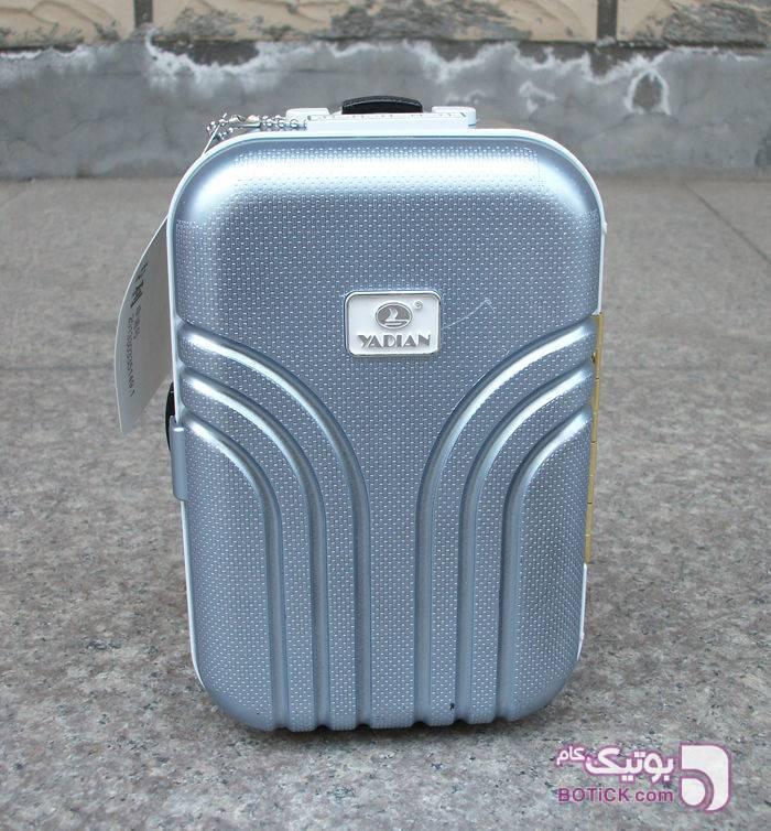جعبه جواهرات طرح چمدان موزیکال صورتی ابزار آرایشی
