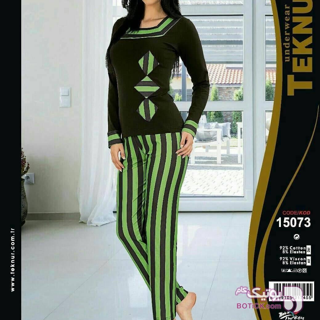 بلوز شلوار تکنور اصل ترکیه سبز بلوز زنانه
