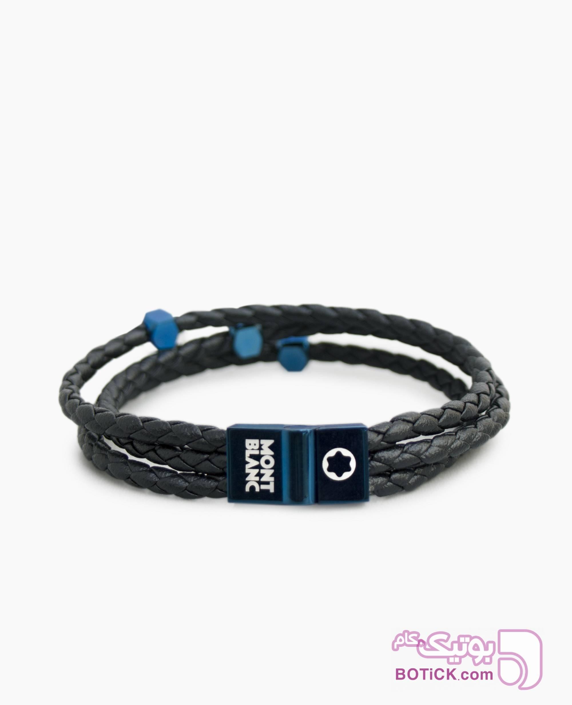 دستبند چرم MONT BLANC کد 8598 مشکی دستبند و پابند
