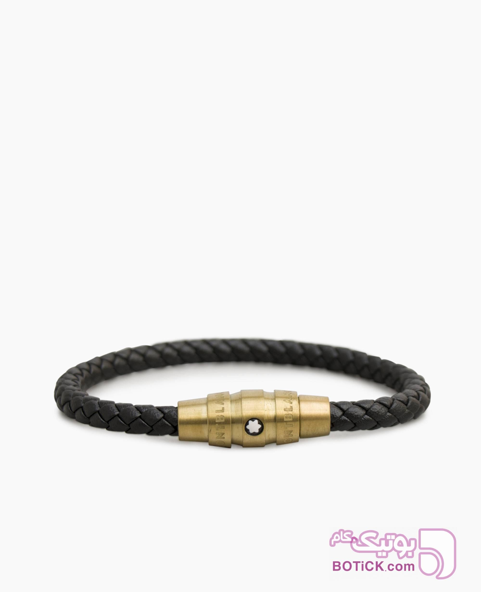 دستبند چرم Mont Blanc کد 1113 مشکی دستبند و پابند