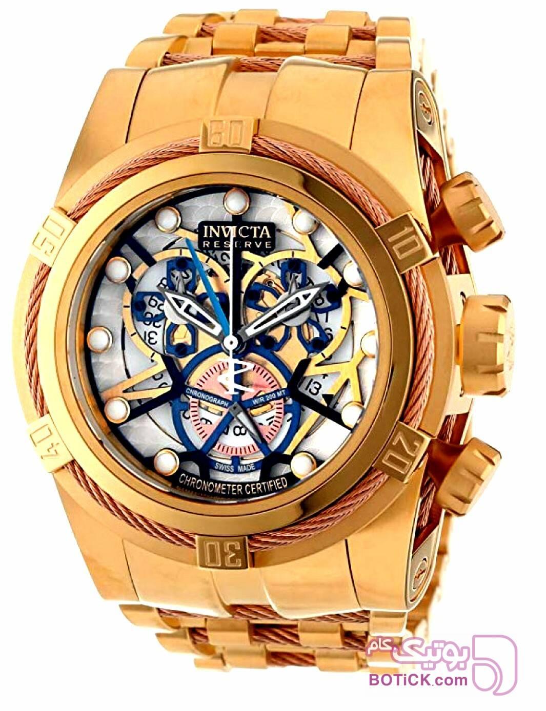 ساعت سوئیسی 300 دلاری اینویکتا زرد ساعت