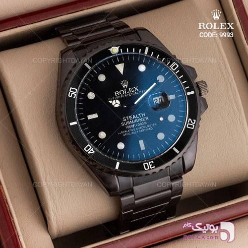 ساعت مچی مردانه Rolex مدل W9993 مشکی ساعت