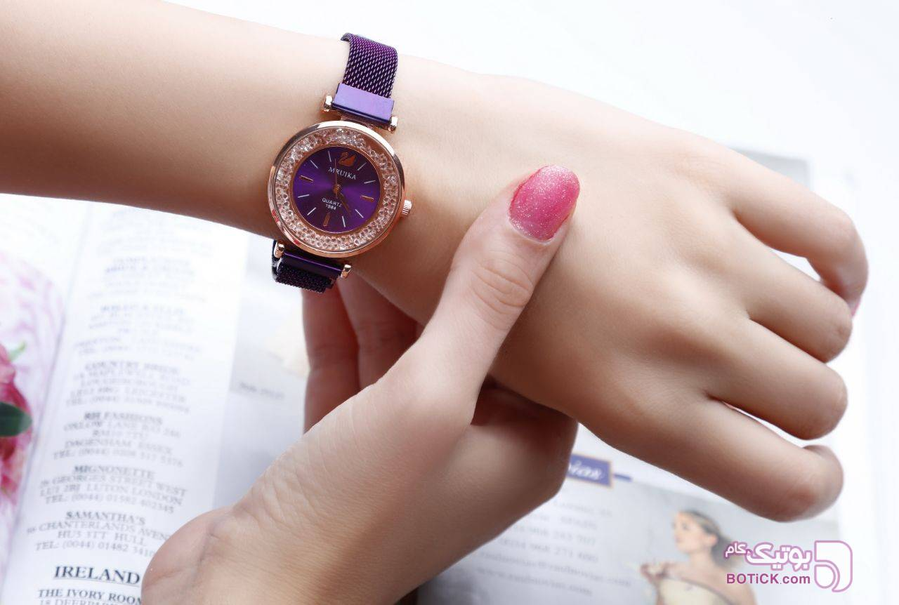 ساعت مچی بنفش ساعت