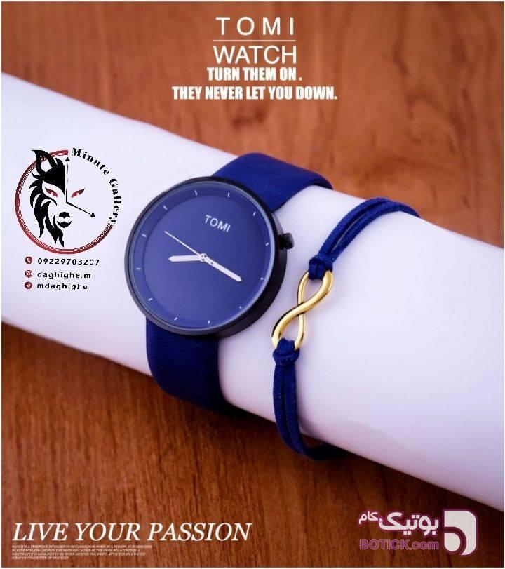 ساعت   TOMI+ دستبند هدیه گالری دقیقه آبی ساعت