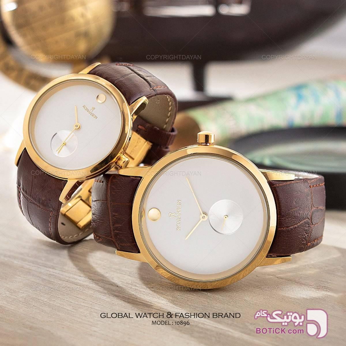 ست ساعت مردانه و زنانه رومانسون زرد ساعت