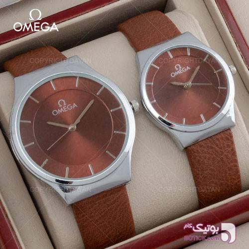 ست ساعت مردانه و زنانه Omega مدل W1397(قهوه ای) قهوه ای ساعت