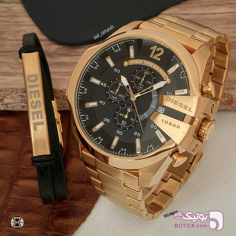 DIESEL مردانه زرد ساعت