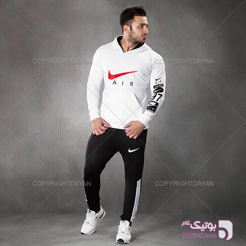 ست سویشرت و شلوار مردانه Nike مدل Kana سفید ست ورزشی مردانه