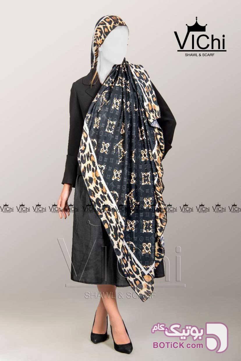 روسری بسیار شیک و زیبا مشکی شال و روسری