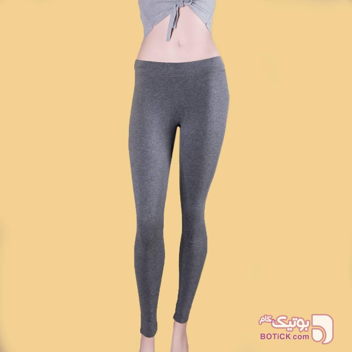 لگ ورزشی طوسی نقره ای شلوار زنانه