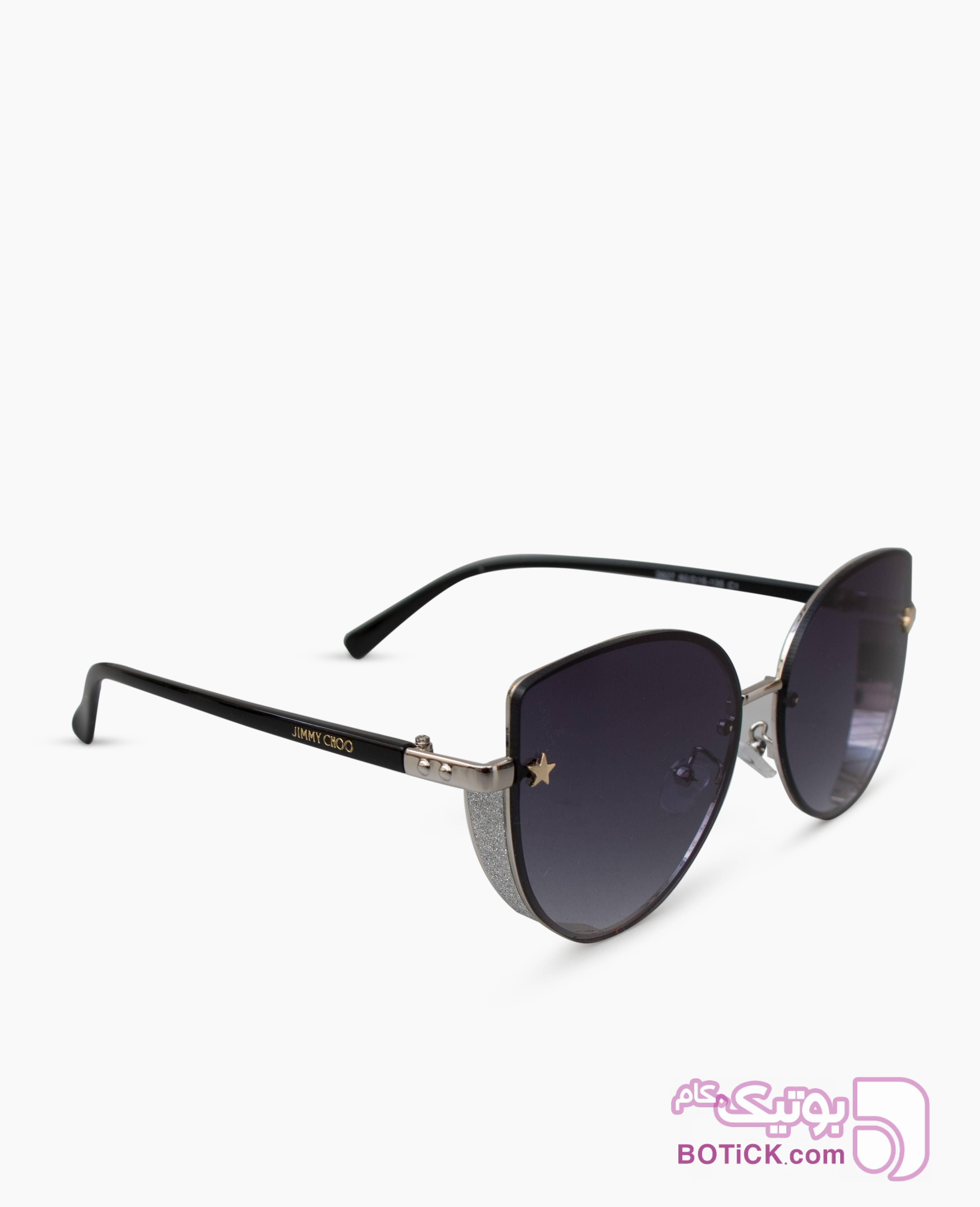 عینک آفتابی زنانه Jimmy Choo کد 2827 نقره ای عینک آفتابی