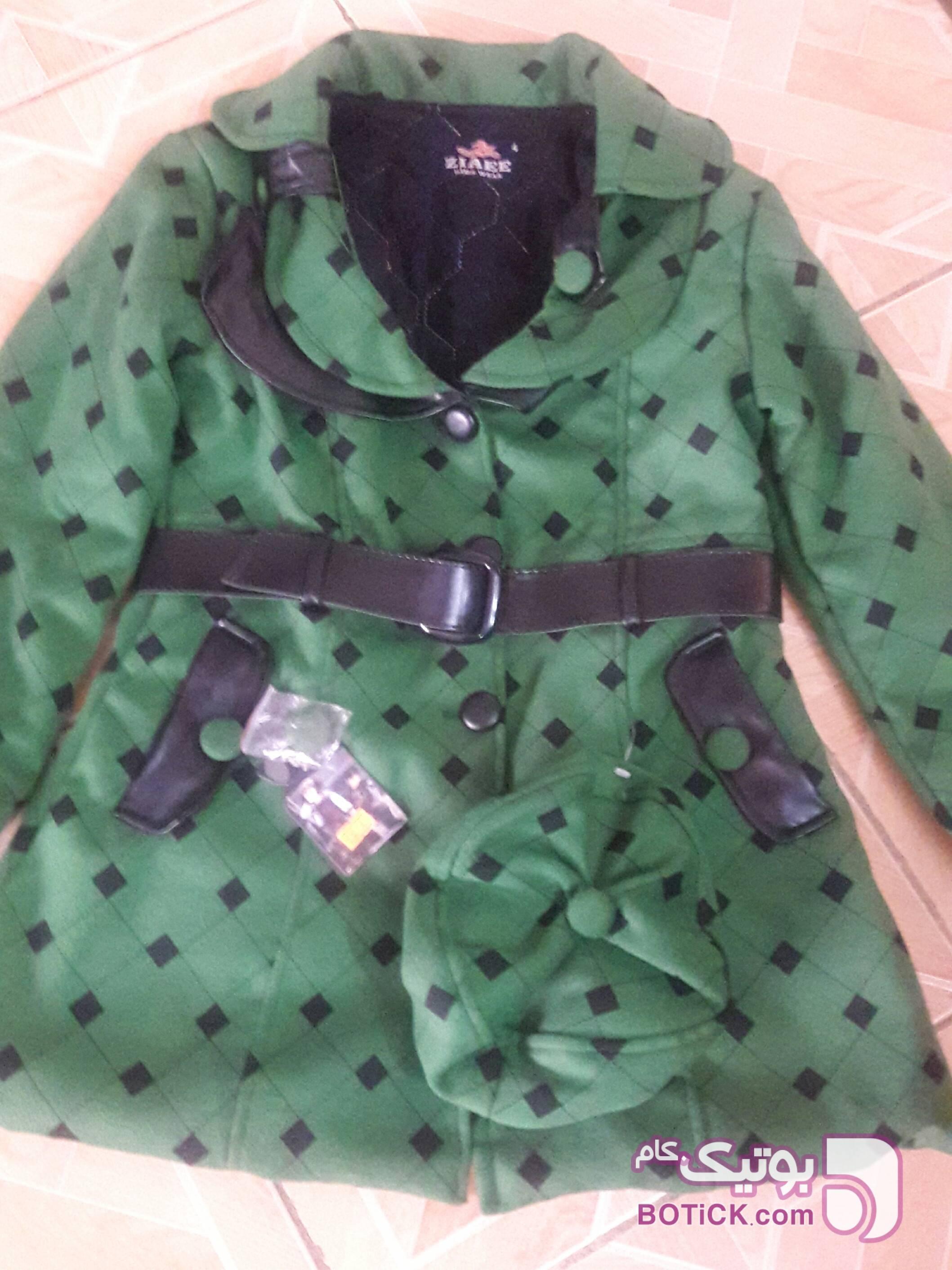 پالتو  سبز لباس کودک دخترانه