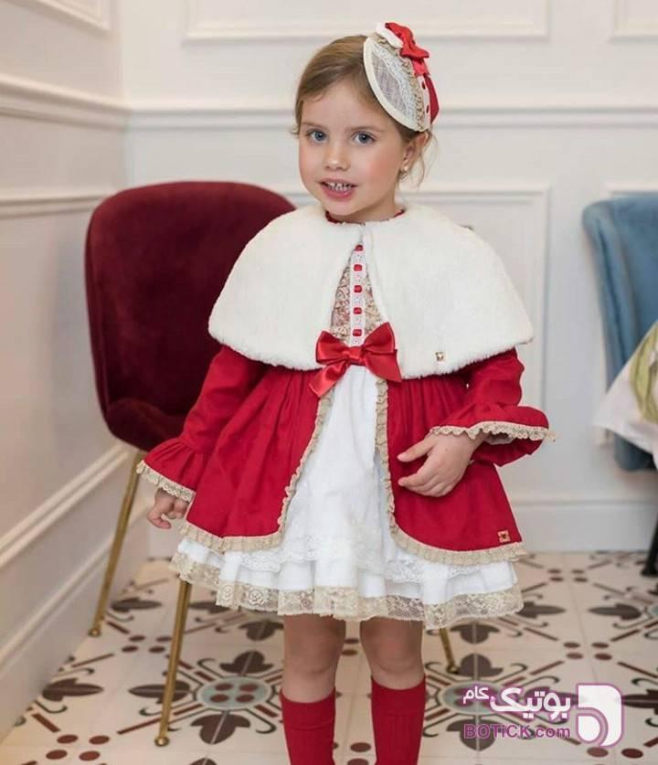 پیراهن اسپانیایی زرد لباس کودک دخترانه