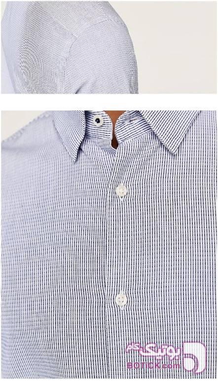 پیراهن مارک ZARA طوسی پيراهن مردانه