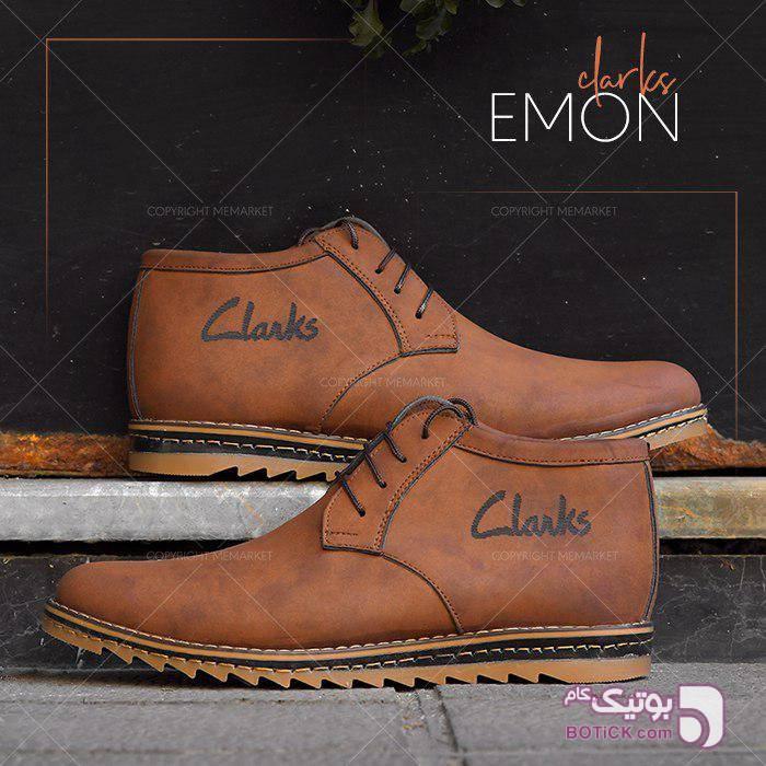 كفش ساقدار CLARK مدل EMON قهوه ای بوت مردانه