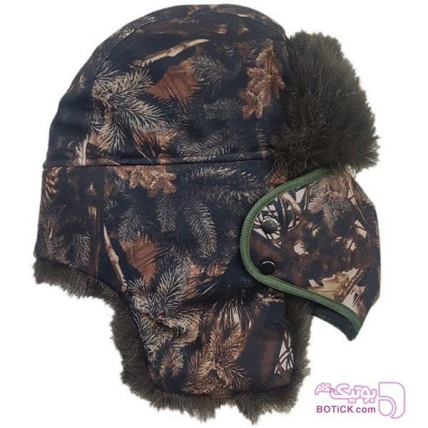 کلاه روسی تاکتیکال چند حالته قهوه ای کلاه بافت و شال گردن و دستکش