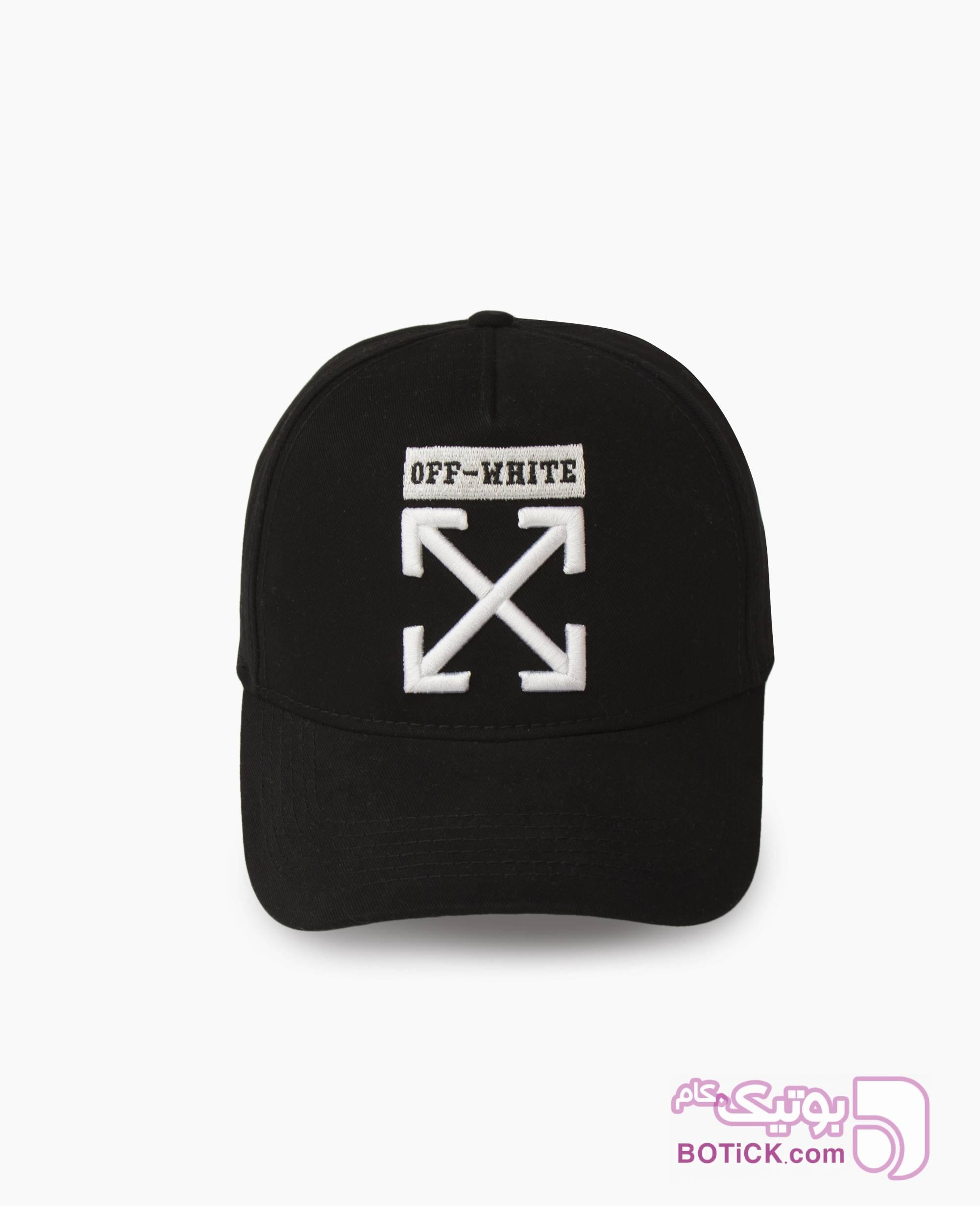 کلاه لبه گرد Off-White کد 9858 مشکی کلاه و اسکارف
