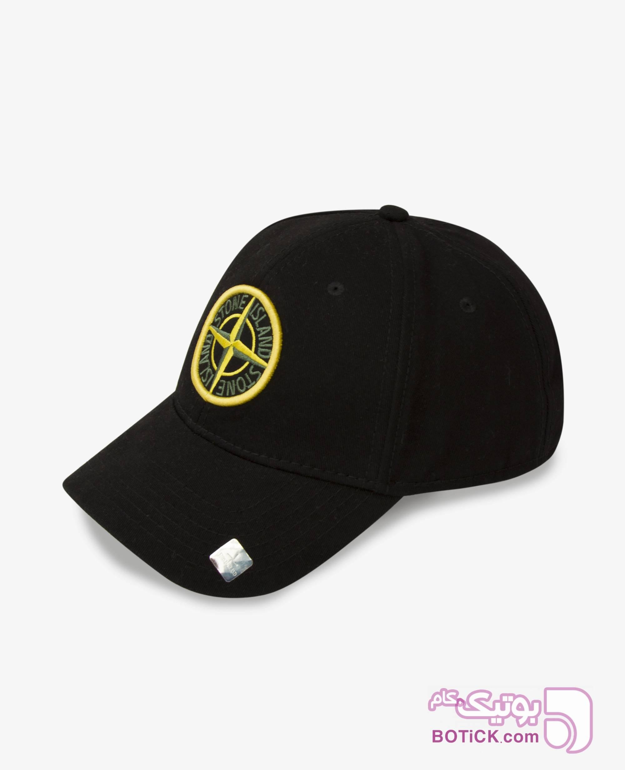 کلاه لبه گرد Stone Island کد 7754 مشکی کلاه و اسکارف