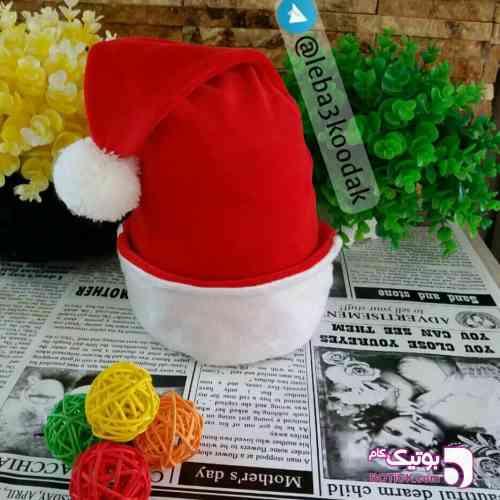کلاه مخمل بابانوئلی آبی 98 2019