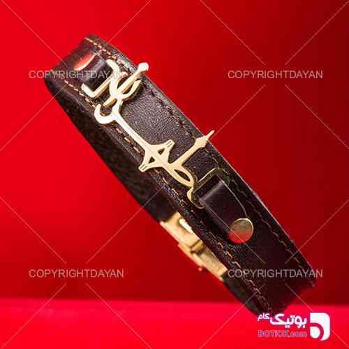 دستبند چرم طرح طهران - دستبند و پابند