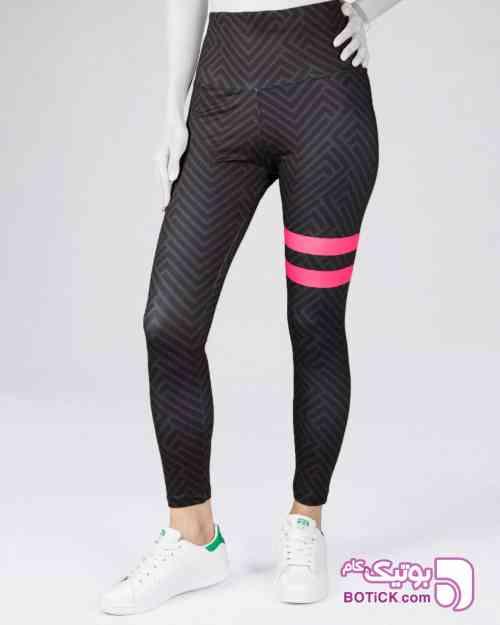 لگ ورزشی طرح دار زنانه مشکی 98 2019