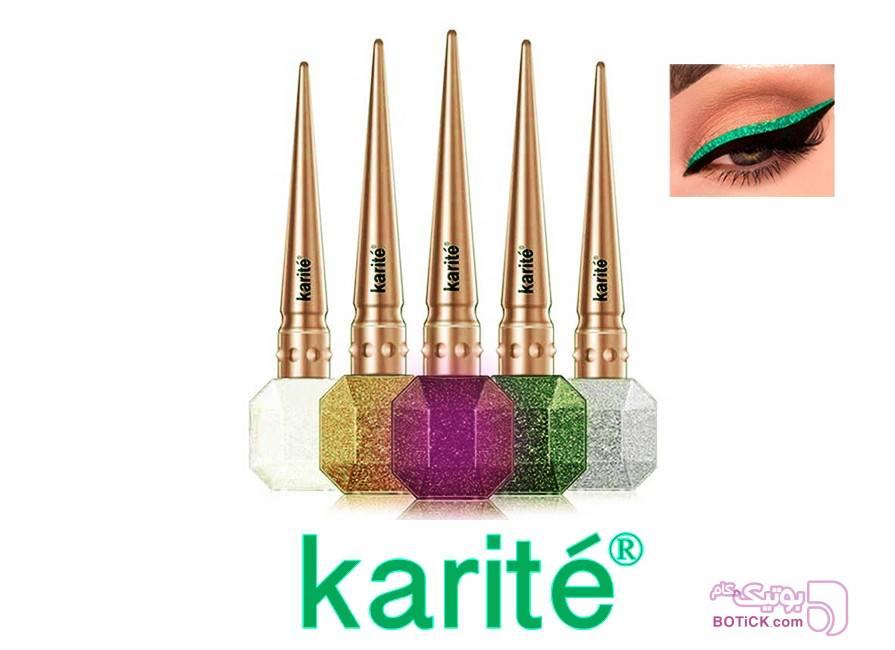 خط چشم شاین Karite Glitter Eyeliner سبز آرایش چشم