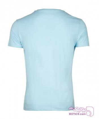 تیشرت نخی یقه هفت مردانه جوتی جینز Jooti Jeans فیروزه ای تی شرت و پولو شرت مردانه