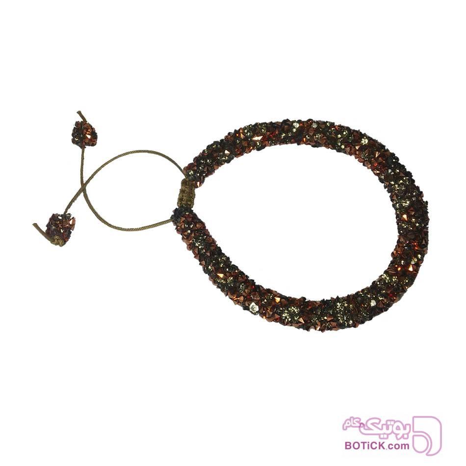 دستبند طرح سواروسکی مشکی دستبند و پابند