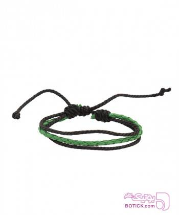 دستبند چرم مردانه بافت جوتی جینز Jooti Jeans سبز دستبند و پابند