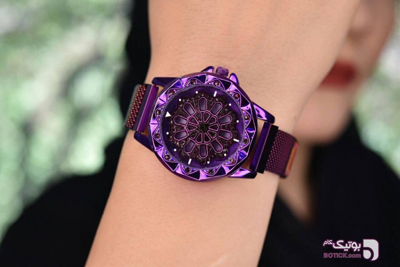 ساعت دخترانه رنگی با جنس عالی آبی ساعت