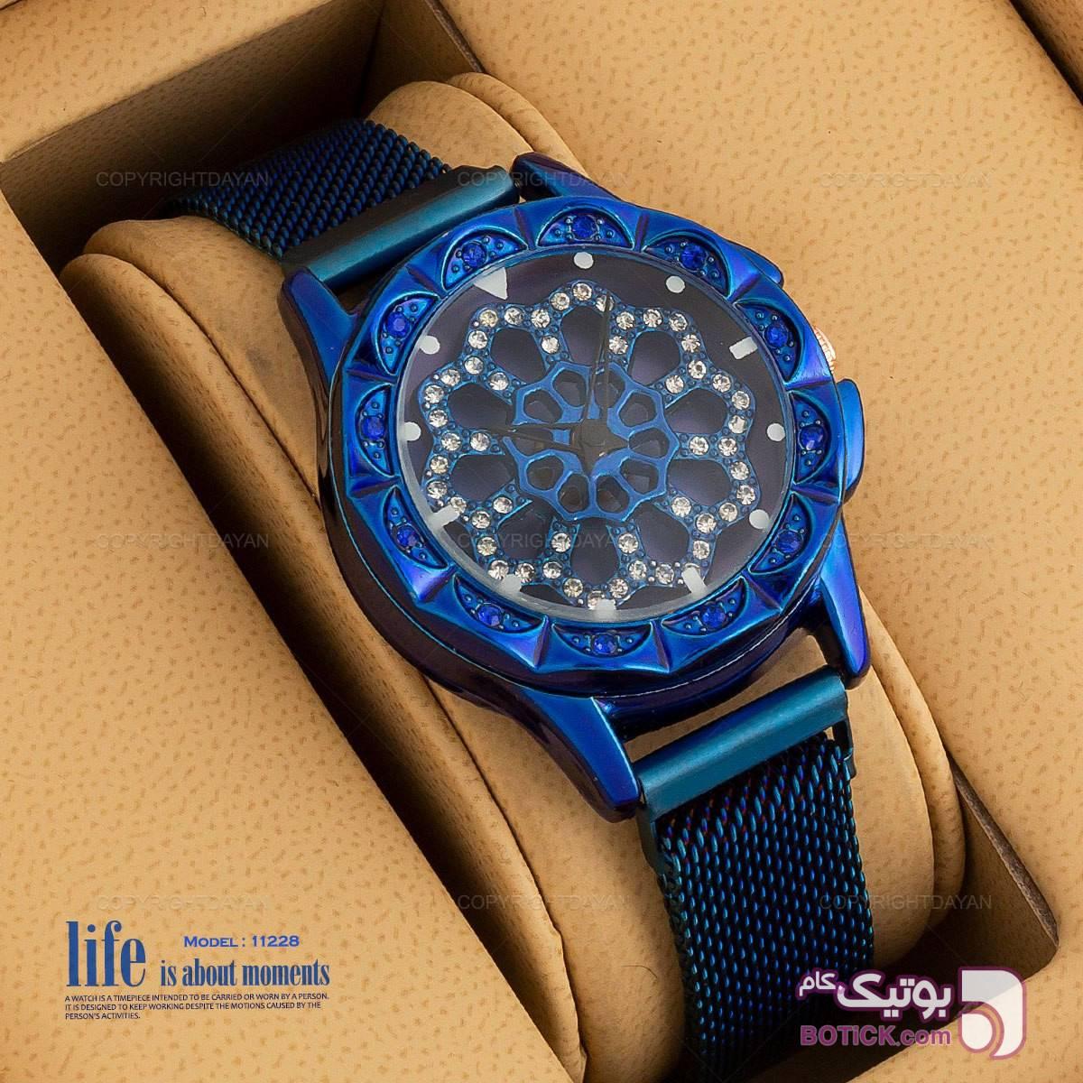 ساعت زنانه pink آبی ساعت