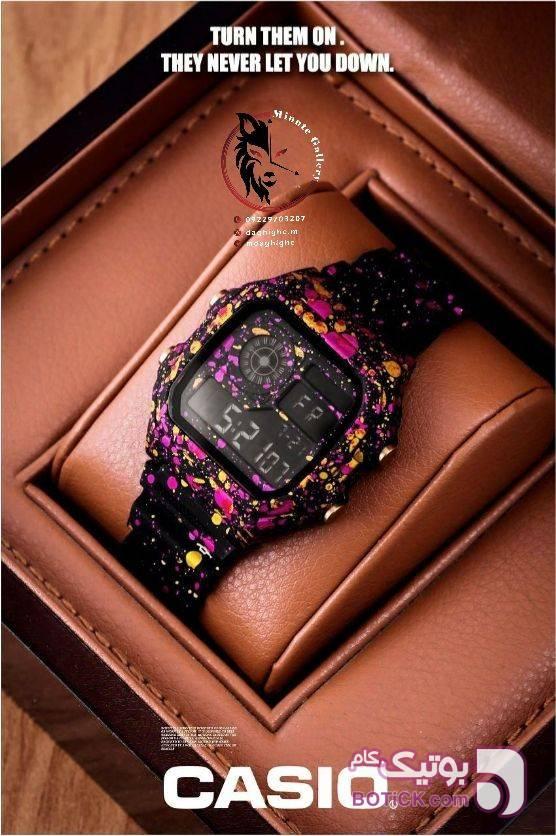 ساعت مچی رنگی زنانه آبی ساعت