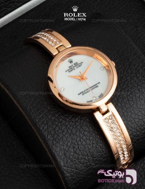 ساعت مچی زنانه Rolex مدل 10714 طلایی ساعت