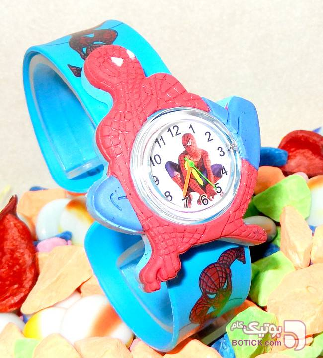 ساعت مچی عقربه ای بچگانه Spiderman آبی ساعت