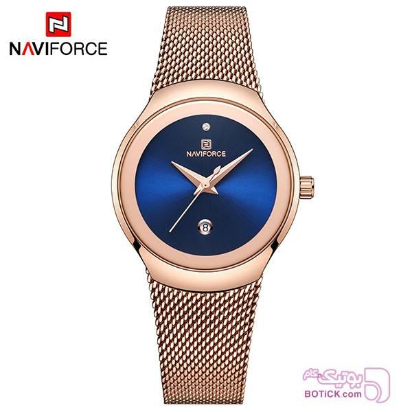 ساعت مچی عقربه ای نیوی فورس مدل NF5004 طلایی ساعت