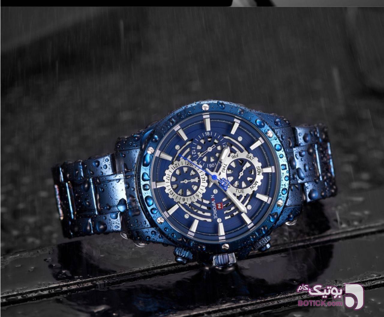 ساعت مچی naviforce آبی ساعت