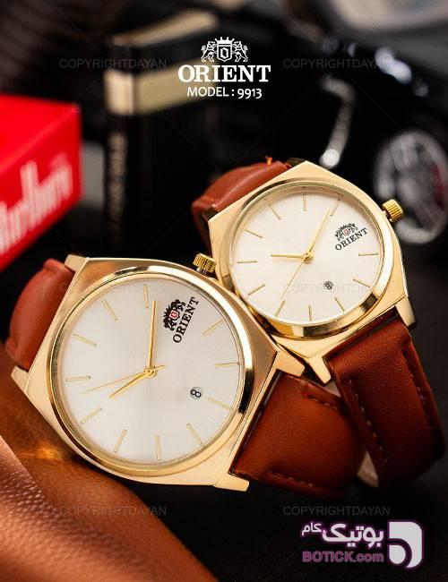 ست ساعت مردانه و زنانه Orient مدل W9913 سفید ساعت