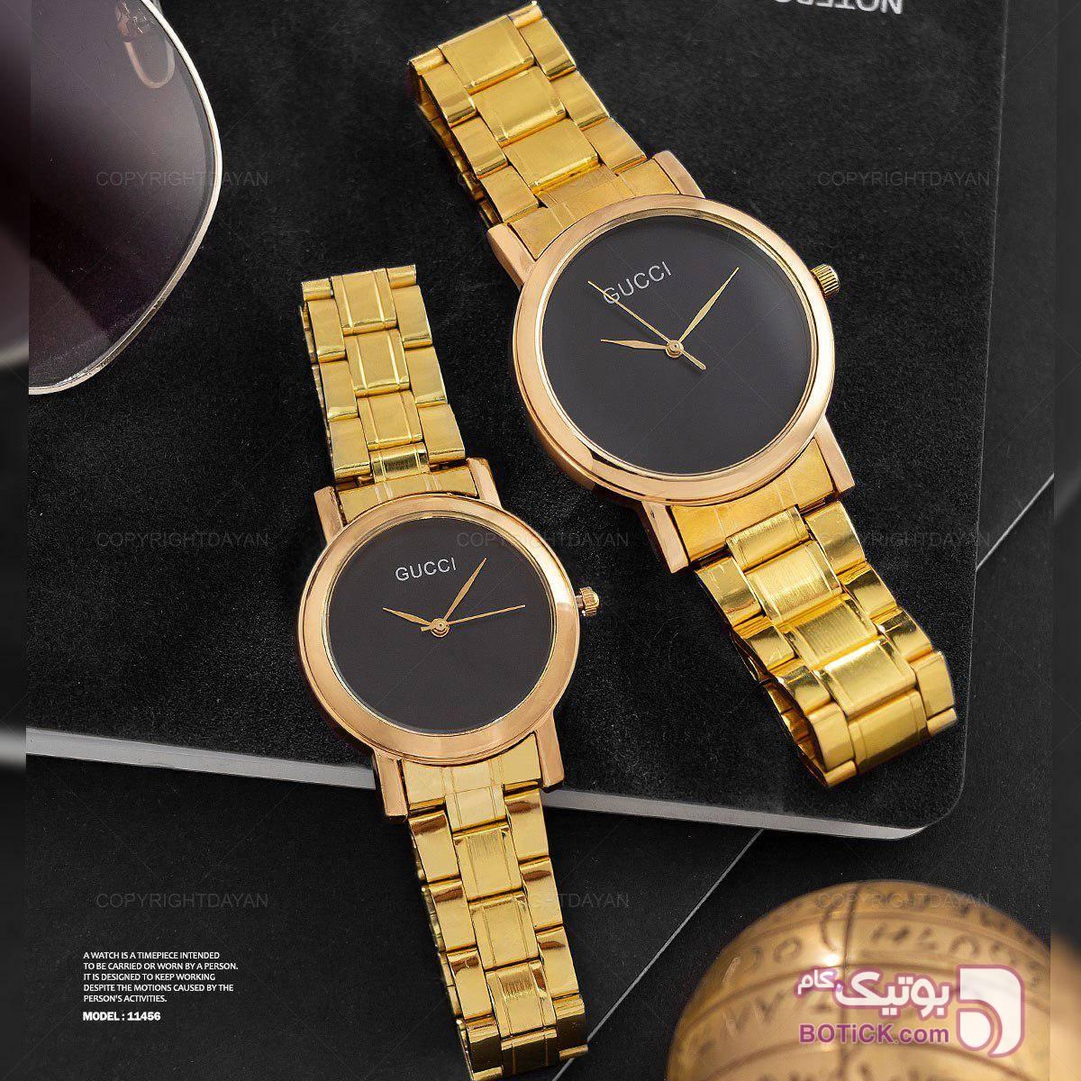 ست ساعت گوچی(طلایی) زرد ساعت