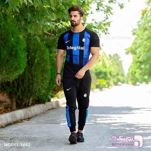 ست تیشرت و شلوار مردانه Esteghlal مدل S9862 آبی ست ورزشی مردانه