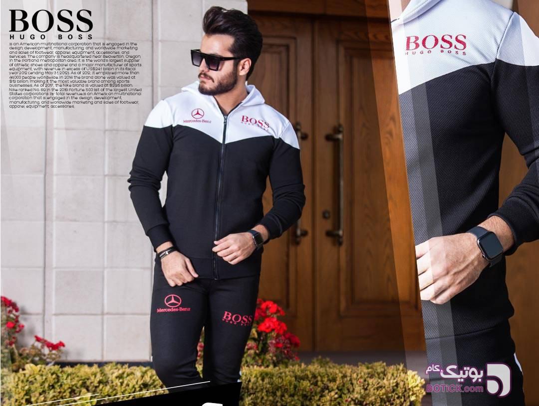 ست سویشرت و شلوار hugo boss مشکی ست ورزشی مردانه