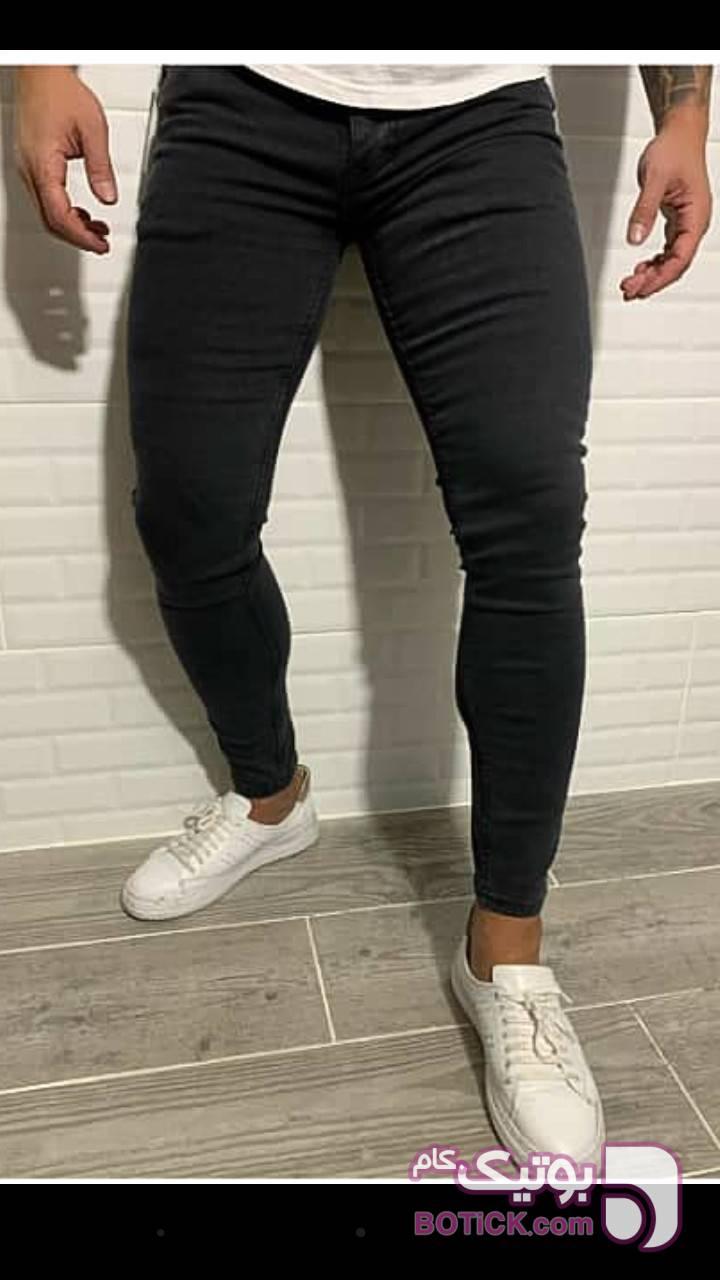 شلوار لی ذغالی مشکی شلوار جین مردانه