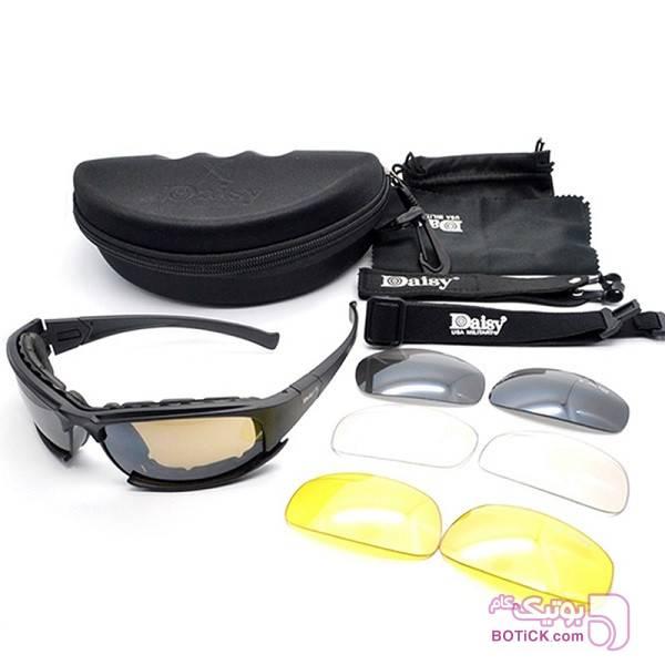 ست عینک تاکتیکال دایزی DAISY X7 مشکی عینک آفتابی