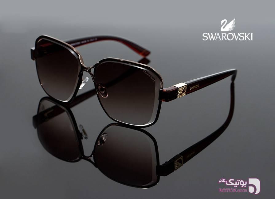 عینک آفتابی زنانه سواروسکی 8003 قهوه ای قهوه ای عینک آفتابی