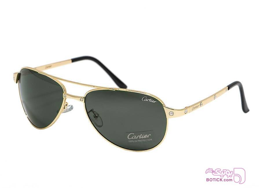 عینک آفتابی طرح کارتیه مدل T8200589 سبز عینک آفتابی