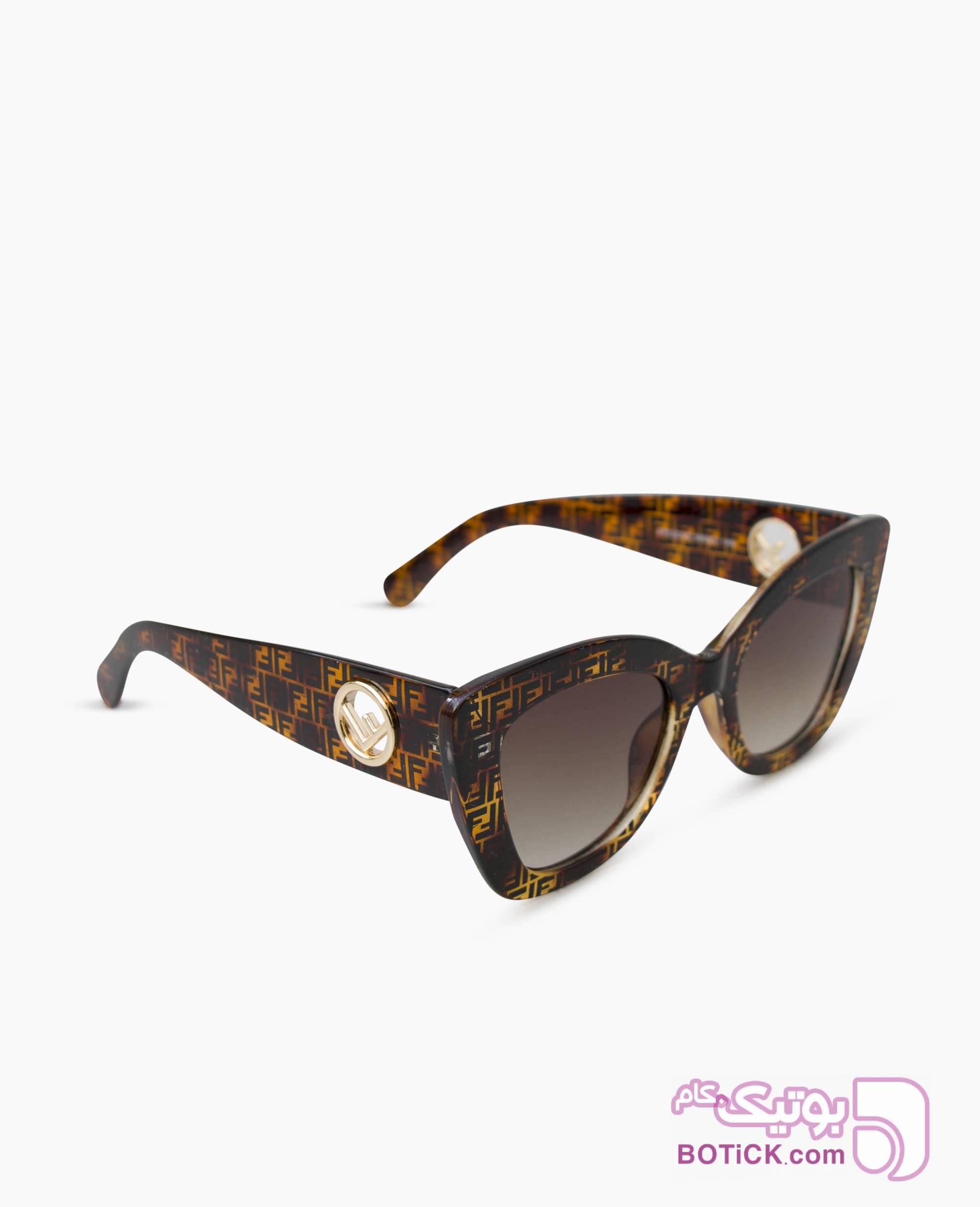 عینک آفتابی Fendi کد FF327 قهوه ای عینک آفتابی