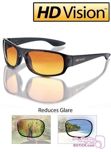 عینک دید در شب HD VISION (اورجینال) زرد عینک آفتابی