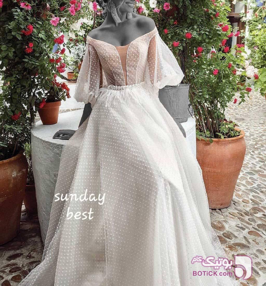 پیراهن مجلسی نامزدی پرنسسی فرمالیته خاص سفید لباس عروس
