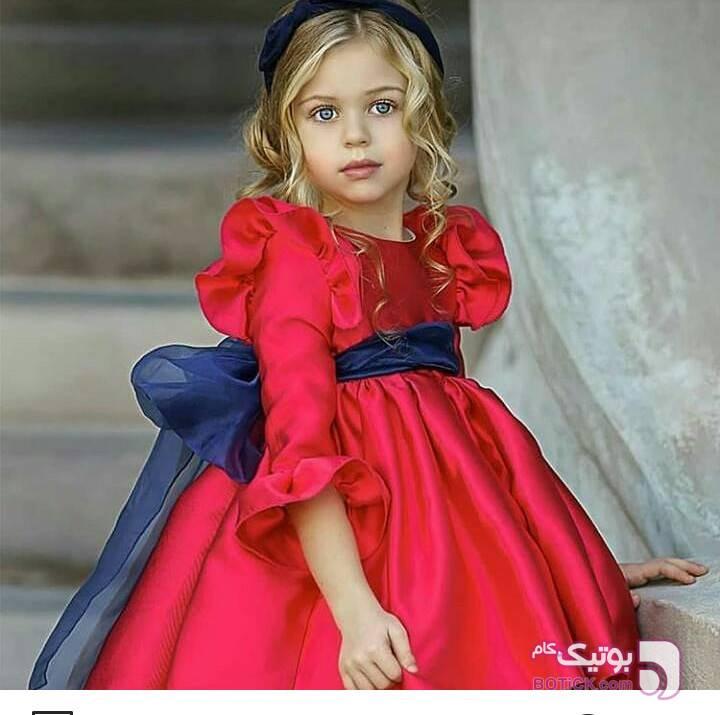 پیراهن دخترانه زرد لباس کودک دخترانه