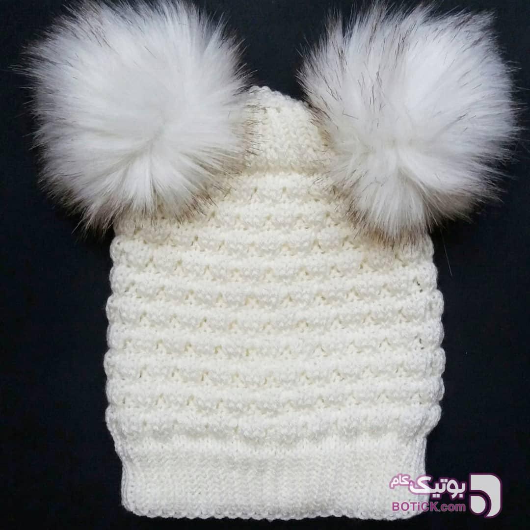 کلاه دخترانه بافت مشکی لباس کودک دخترانه